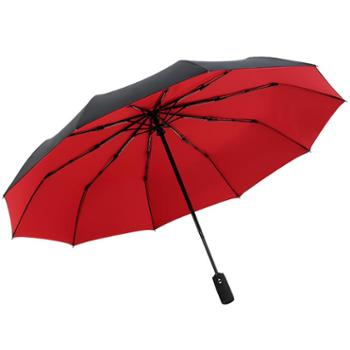 双层全自动超大雨伞折叠加固抗风男女潮流双人晴雨两用学生三折伞