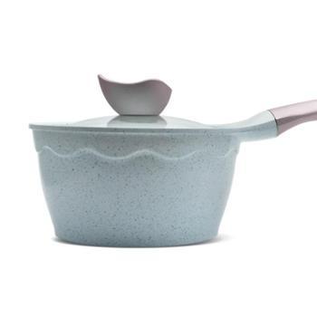 赛普瑞斯麦饭石小奶锅不粘锅宝宝辅食家用婴儿煮奶锅电磁炉泡面锅