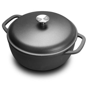雅多福 铸铁炖锅汤锅28cm老式铁锅手工加厚一体炖煲汤煲生铁锅