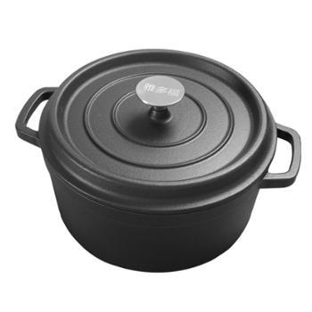 雅多福 铸铁炖锅汤锅24cm老式铁锅 传统手工加厚炖煲汤锅 生铁锅