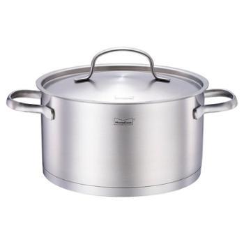 momscook 德国工艺304不锈钢小汤锅加厚锅小奶锅电磁炉通用煮面锅