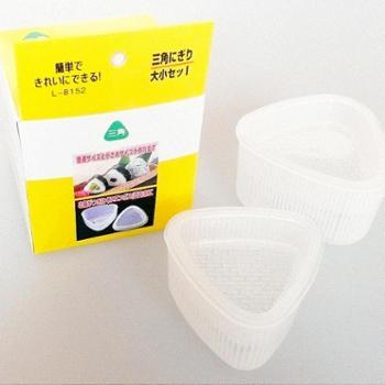 三角饭团模具2只套装 可爱米饭做寿司器 日本厨房卡通便当DIY工具