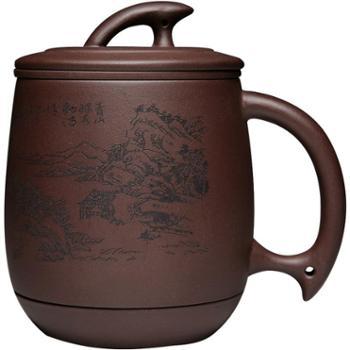 宜兴紫砂杯茶杯带盖过滤内胆非陶瓷手工办公室功夫茶具纯泡茶杯子