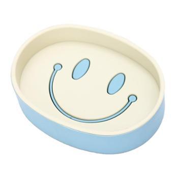 肥皂盒家用卡通笑脸双层香皂盒卫生间沥水肥皂香皂托盘肥皂架子