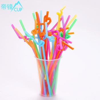 帝锋一次性吸管 果汁吸管 艺术吸管 塑料吸管 果汁吸管 60根每包