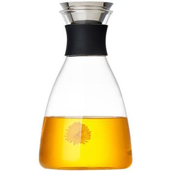 美斯尼 玻璃凉水壶家用耐高温水瓶套装玻璃茶壶大容量果汁冷水壶