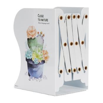 南国书香 创意植物书立架可伸缩书夹书靠书立加厚加大金属折叠收纳