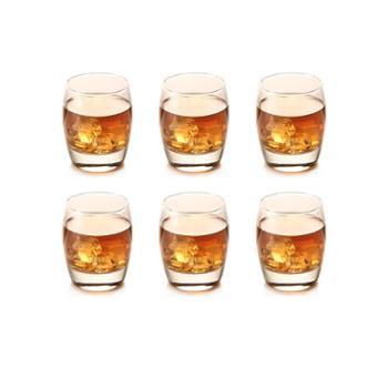利比啤酒杯玻璃白酒杯威士忌烈酒杯家用洋酒杯子水杯