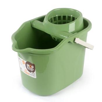 手压带滑轮加厚洗拖把桶挤水桶墩布清洁单桶拖把压干桶家用大容量