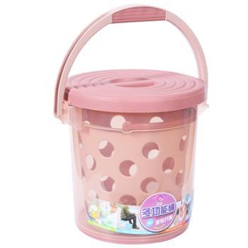 加厚塑料水桶凳手提洗澡桶可坐钓鱼多用收纳储物洗车带盖