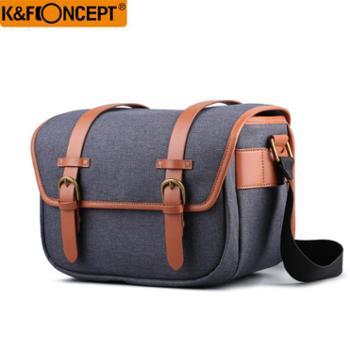 K&Fconcept卓创微单相机包单肩索尼佳能200d便携休闲摄影包