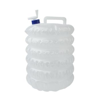 户外折叠水桶带水龙头车载PE食品级5L10L15L饮水袋野营伸缩储水桶