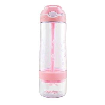 美国Contigo果茶杯吸管杯带锁扣成人柠檬水杯创意便携运动水杯子