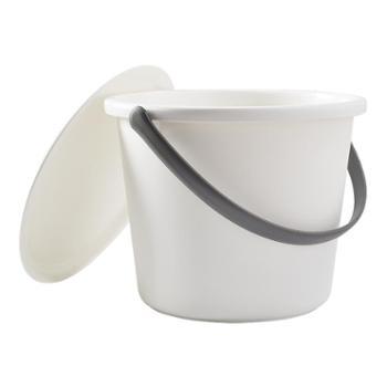 久梨沙 家用带盖子储水桶塑料加厚手提带盖圆形提水桶