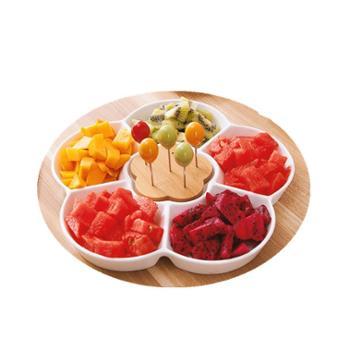 Woliwowa/屋里屋外 创意陶瓷水果盘家用简约分格盘