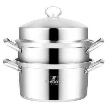 振能304不锈钢蒸锅 复底蒸煮多用锅 汤煲锅 促销礼品赠品汤锅