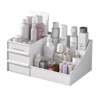 抽屉式化妆品收纳盒宿舍整理护肤桌面
