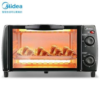 美的烤箱T1-L108B迷你10升家用容量