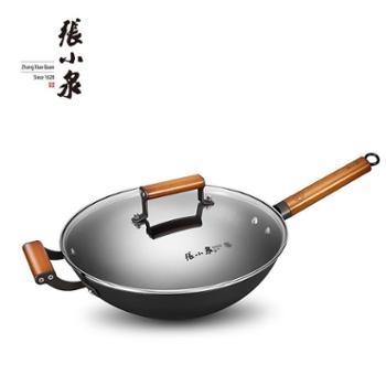 【佳博利】张小泉32cm不锈铁铸炒锅C30210100受热均匀 加厚锅体 储热节能
