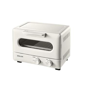德世朗家用多功能电烤箱 9升 石英管红光加热 小巧年轻时尚 DDQ-JK001