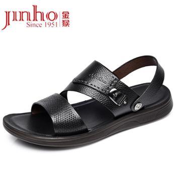 金猴夏季牛皮两用透气沙滩凉鞋SQ98028A