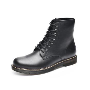 金猴系带英伦休闲马丁靴SQ85068A