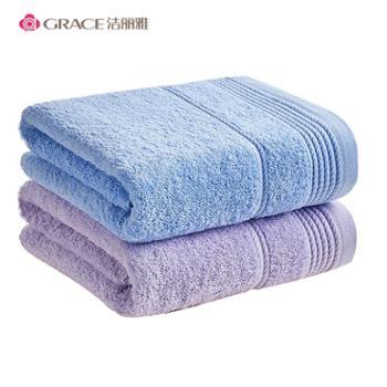 洁丽雅全棉加厚浴巾E21182条装
