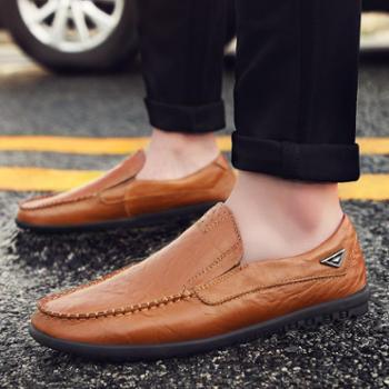 新款休闲皮鞋 真牛皮男士驾车鞋 xin8119