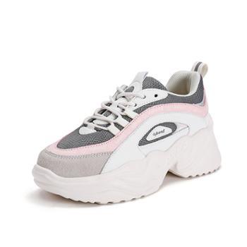 潮流时尚运动老爹女鞋 轻盈透气 舒适厚底增高鞋子WKM26