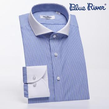 ELSYALN男士长袖短袖衬衫商务休闲棉免烫纯棉
