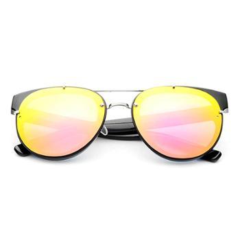 时光一百Smileyes系列 时尚潮款细框彩膜反光太阳镜(男女同款)TSGL020