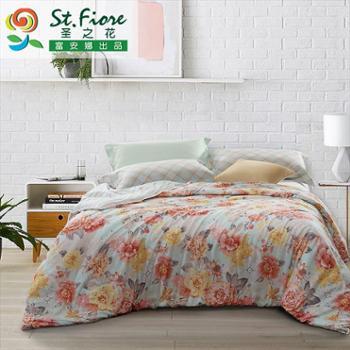 富安娜出品圣之花家纺纯棉单件被套学生寝室单件被套