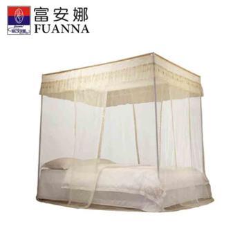 富安娜家纺宫廷式落地帐床上用品蚊帐暖