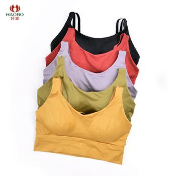 好波女士小胸运动背心聚拢无钢圈薄款少女文胸DWB2012棉