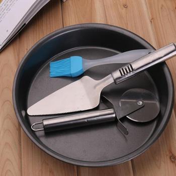 披萨盘家用烘焙工具套装烤箱微波炉不粘烤盘蛋糕西餐模具披萨刀