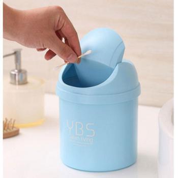 川为创意桌面垃圾桶迷你摇盖式小号垃圾筒家用客厅卧室桌上收纳桶