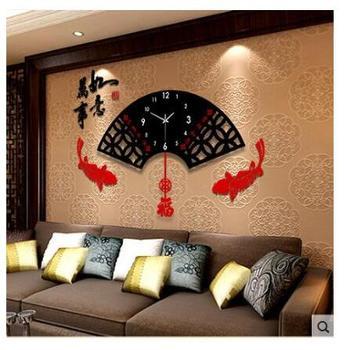 久久达钟表挂钟客厅中式现代创意时钟中国风简约摆钟静音石英钟