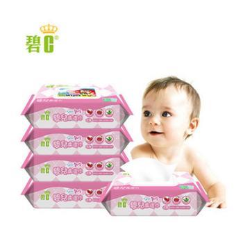 碧c湿巾纸手口屁屁湿巾湿纸巾婴儿宝宝新生儿童80抽5包