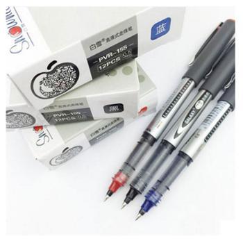 白雪直液式走珠笔学生考试笔办公中性笔水性笔签字笔12支