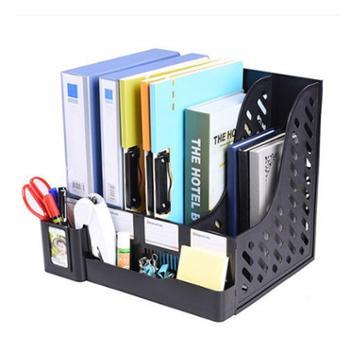 创易文件架加厚大号四栏文件框资料架文件栏文件筐收纳办公用品