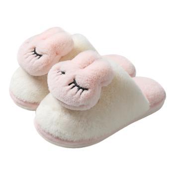 冬天棉拖鞋女士情侣家居室内可爱毛绒保暖拖鞋家用秋冬季