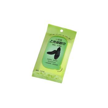 特价10包100片 一次性便捷擦鞋湿巾 皮鞋上光护理纸清洁保养真皮