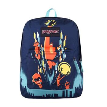 JANSPORT 杰斯伯 男女款双肩背包校园休闲包书包 3P1F52U超人家庭绘画