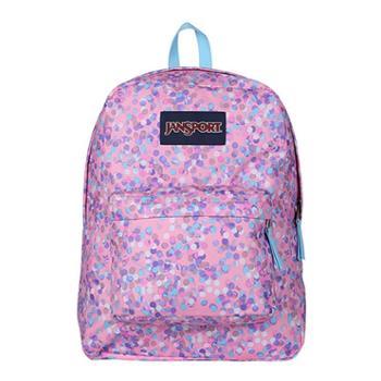 JANSPORT 杰斯伯 男女款双肩背包校园休闲包书包 T5014Z8粉红斑点