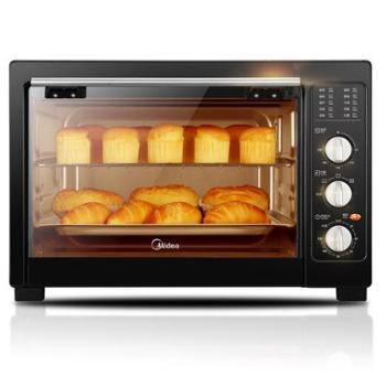 美的(Midea)电烤箱家用大容量 广域控温 MG38CB-AA 38L黑色