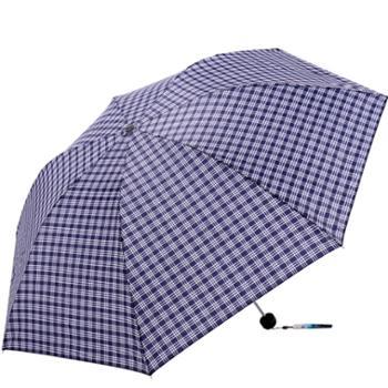 天堂伞钢骨耐用格子晴雨伞经典拒水三折伞男女通用339S格彩格15