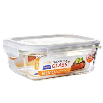 乐扣乐扣(LOCK&LOCK)格拉斯耐热玻璃保鲜盒LLG428630ML