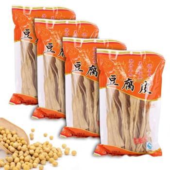 腐竹农家自制纯天然手工豆腐皮188克*4包