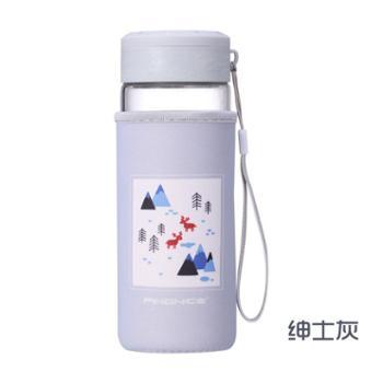法耐耐热高硼硅运动玻璃水瓶布套水杯单层提绳/双层无提绳