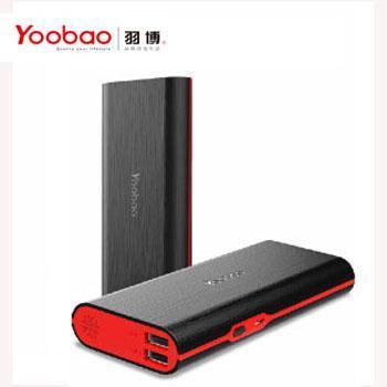 羽博 S7移动电源10000毫安 双USB口手机平板通用 2A智能充电宝